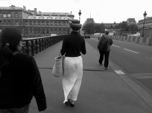 The Parisian woman in all of her Mary Poppins glory.