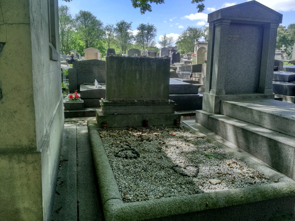 The modest grave of Gertrude Stein.